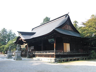 浅間神社拝殿 (2)