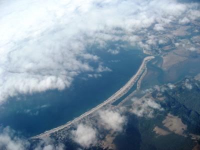 飛行機からのビーチ