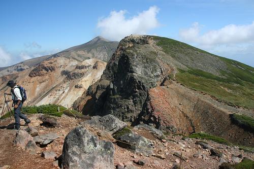 上ホロカメトック山と十勝岳