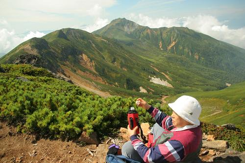 三峰山と富良野岳