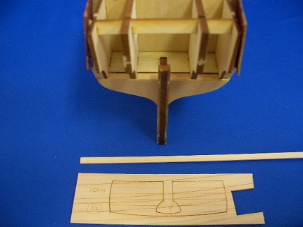 船尾外板の組み立て1