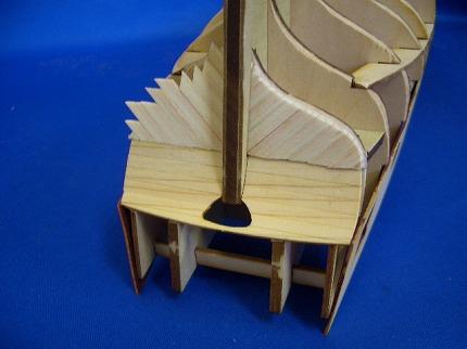 船尾外板の組み立て3