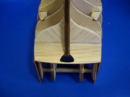 船尾外板の組み立て4