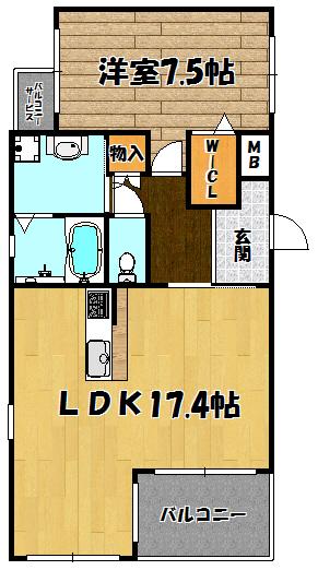 仮称)下新庄マンション1号室