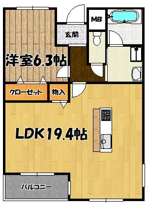 仮称)下新庄マンション2号室
