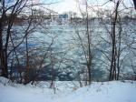 溶け始めたセントローレンス川
