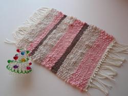 手織りのカフェマット