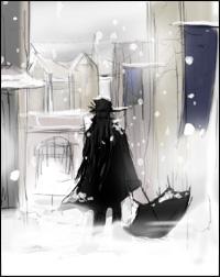 降りしきる雪、まるで咎人のような・・・