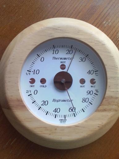 温度湿度計・・・ベストな状態