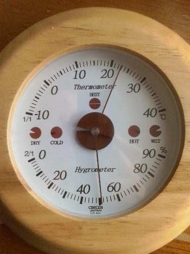 温度湿度計・・・乾燥状態