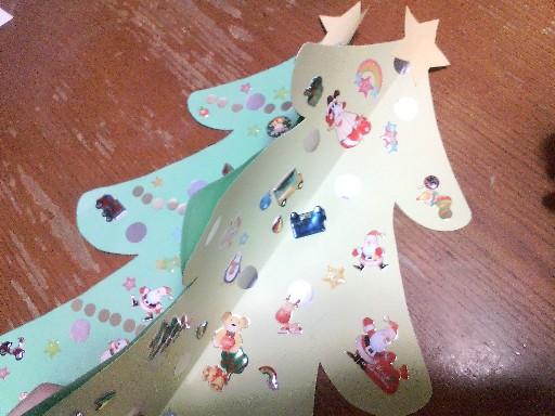 手作りクリスマスツリー09②