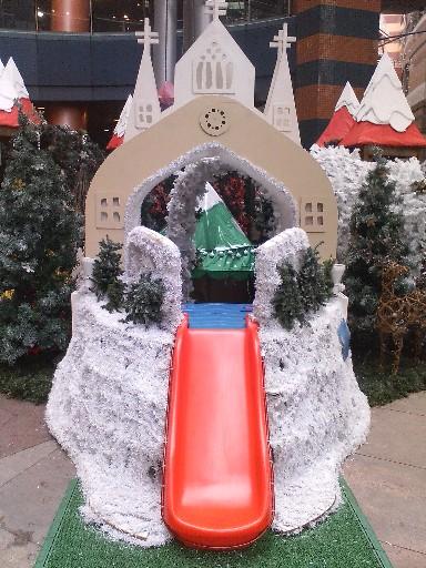 キャナルのクリスマス09滑り台