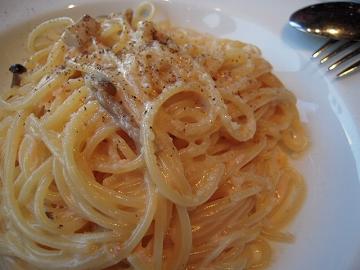 タラバガニのきのこクリームスパゲッティ