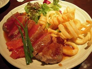 牛サーロイン鉄板ステーキ