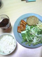 ブタケチャップ&サラダ