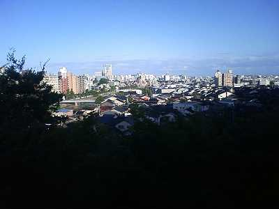 卯辰山からみた浅野川