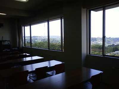 教室から見た景色
