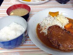 博多駅前の博多ハンバーグこがでハンバーグ定食ランチ♪
