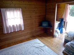 御立岬公園のミニログハウスでなんちゃってキャンプ。
