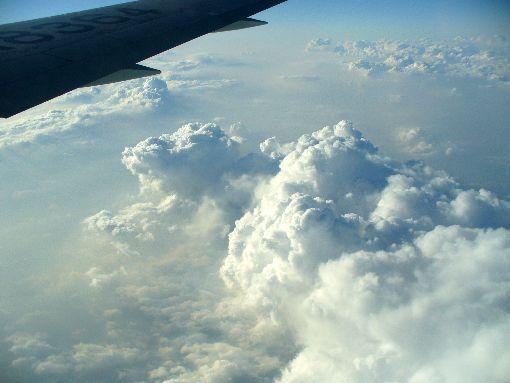 東北上空の雲