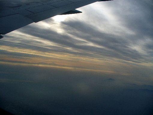 関東上空の空
