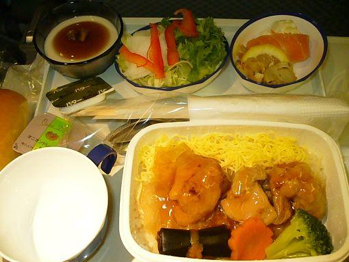 機内食(夕食)