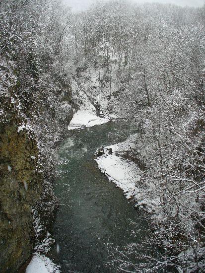 定山渓の渓谷