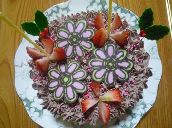 * 花 ケーキ *