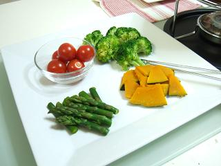 野菜のお皿