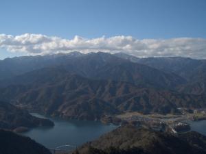 丹沢の山並み クリックすると大きな写真になります。