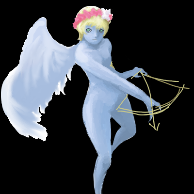 基本天使に性別は無いのですがハニエルは♂だと思う。