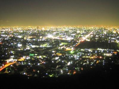 三笠山の夜景