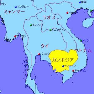 カンボジアMAP