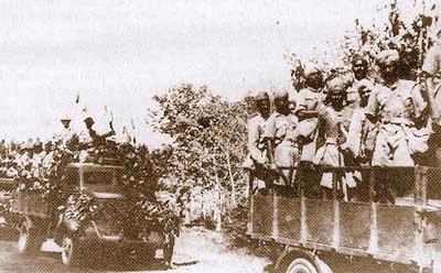 インパール作戦のインド国民軍将兵