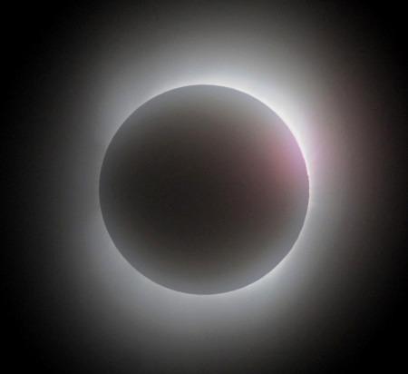 皆既日食 喜界島で観測