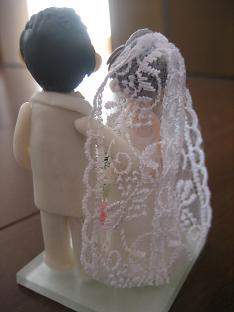 ウエディング人形白4