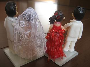 ウエディング人形2組2