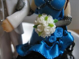 ウェディング青ドレス3