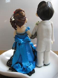ウェディング青ドレス4