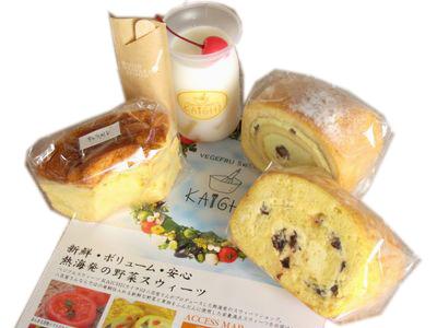KAICHI--練乳&ラムレーズンロール/富士ロール/ミルク寒天/キャラメルシフォン。