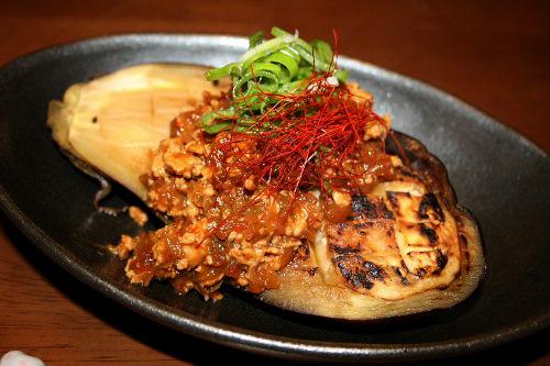 米ナスの肉味噌