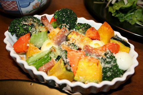 温野菜サラダかぼちゃ