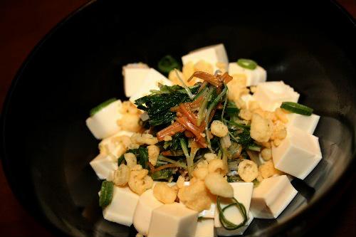 水菜とお豆腐