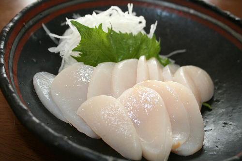 たいらぎ貝のお刺身
