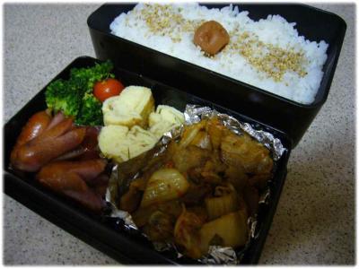 豚キムチのお弁当