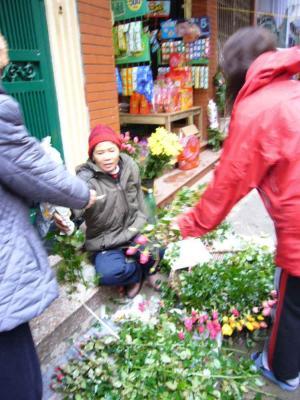 市場 花屋