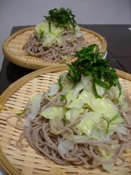 キャベツ蕎麦