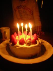 ろうそくケーキ