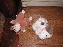スヌーピー&クマのぬいぐるみ