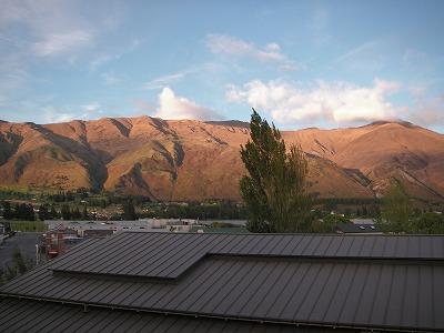 ホテルのベランダから見た景色